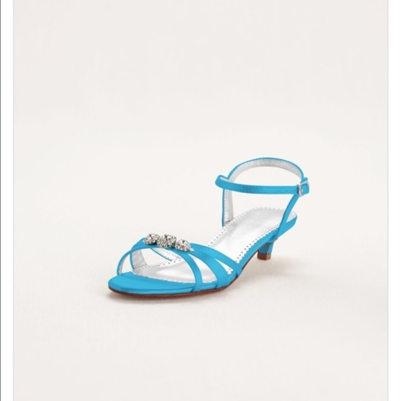David\'s Bridal Shoes | Davids Bridal Malibu Blue Wedding Sandals ...